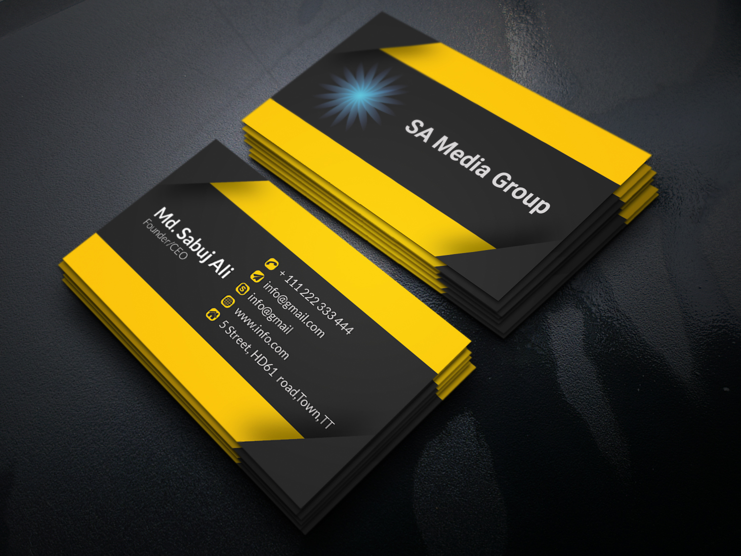 I will do standered business card design