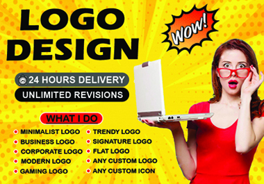 I will design minimalist and modern logo with free vector file