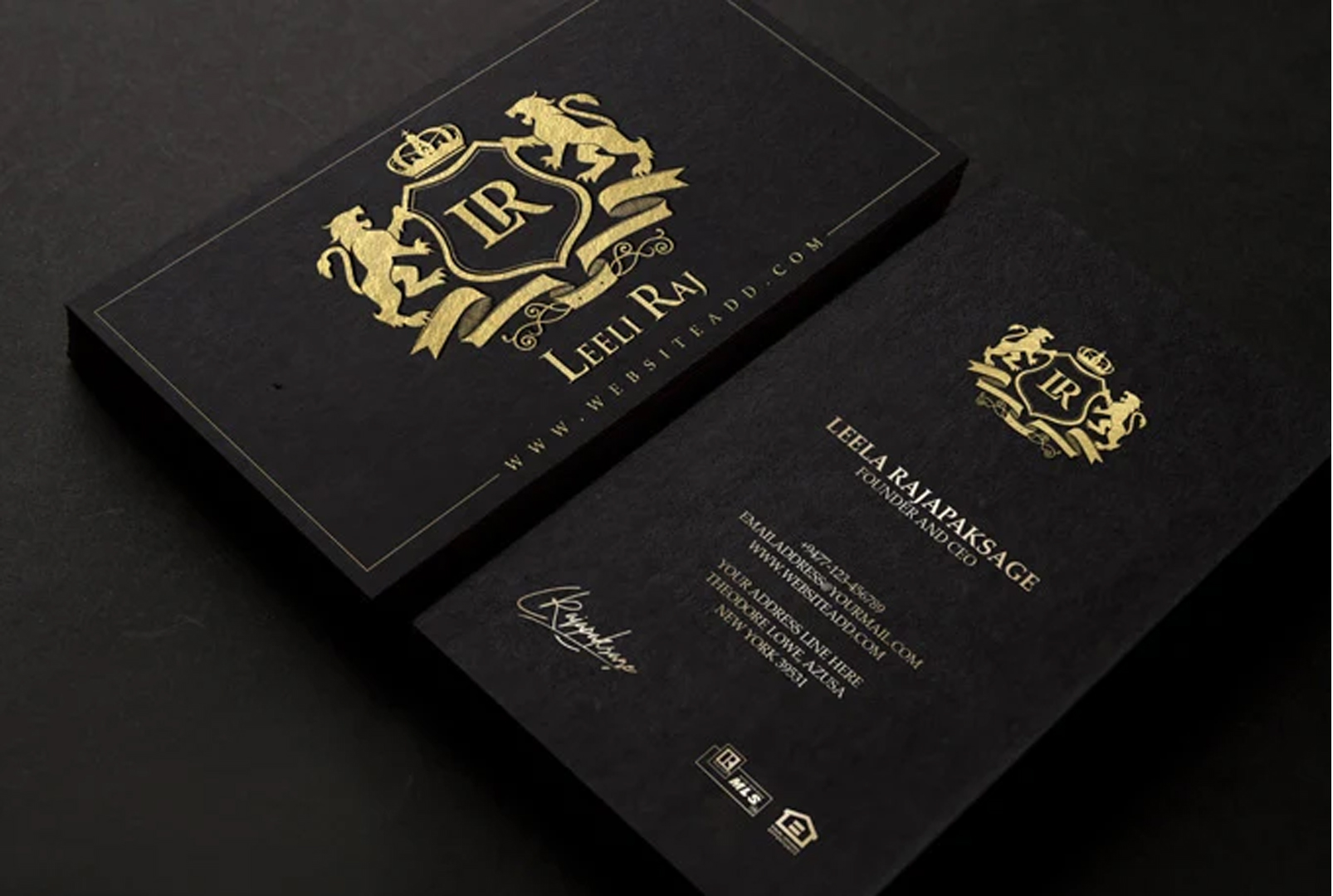 I will create luxury business card design