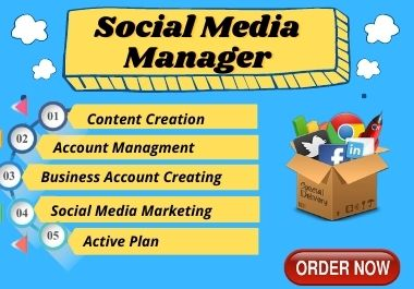I will be your Best Social Media Manager & Content creator