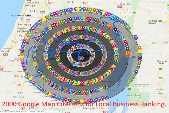 do 2000 google point map citations for local business