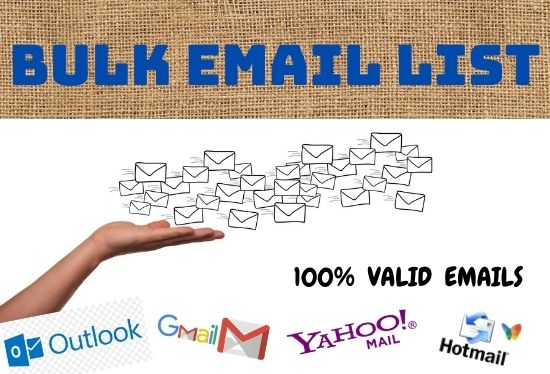 I will provide valid bulk email list for email marketing