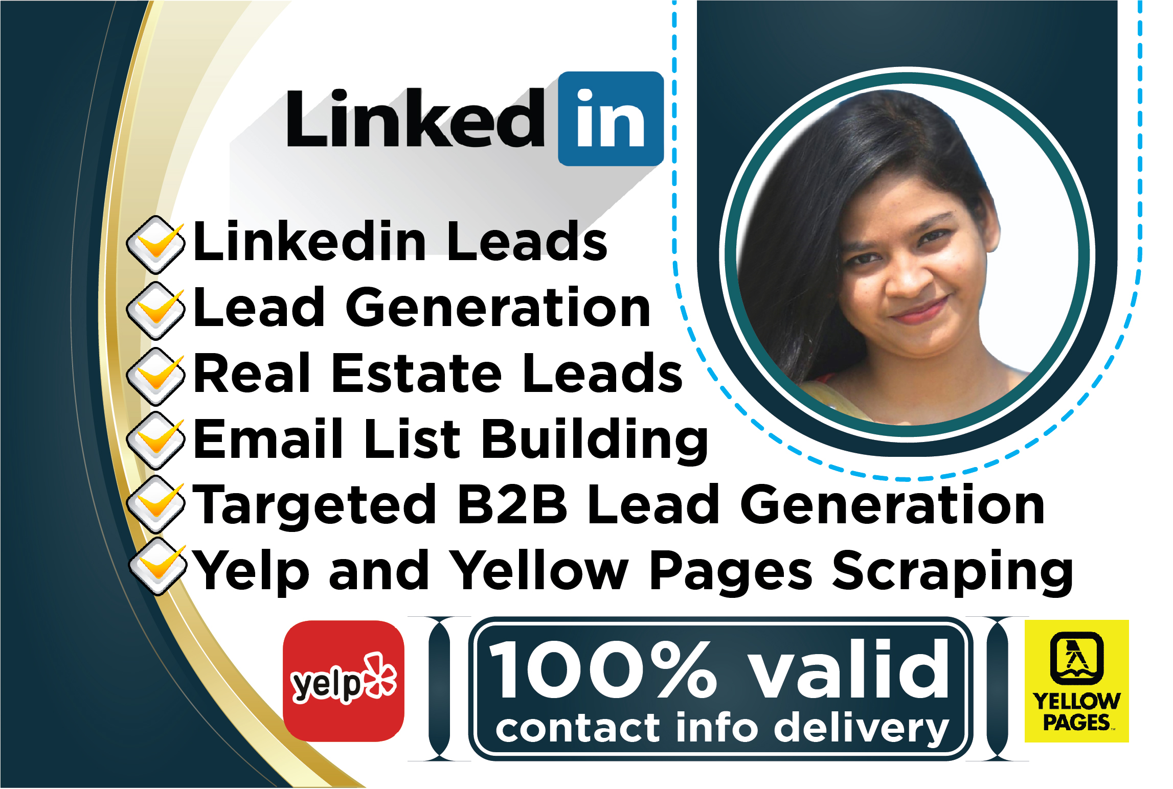 I will do b2b lead generation and contact list building