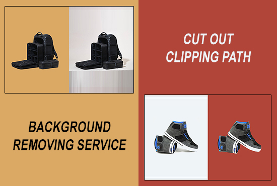 background removal by clipping path and cutout image masking and photoshop editing service