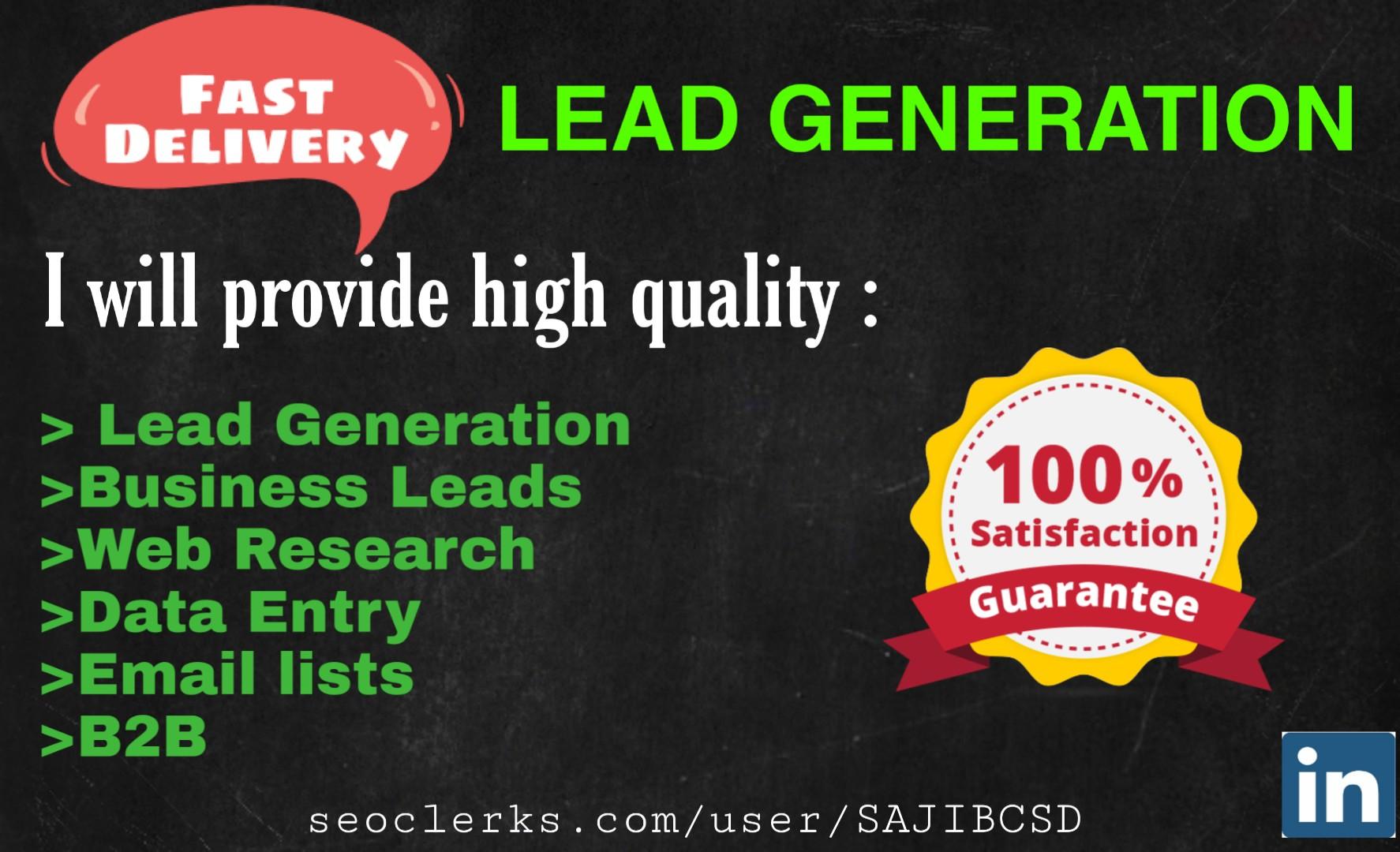I will do 20 b2b lead generation