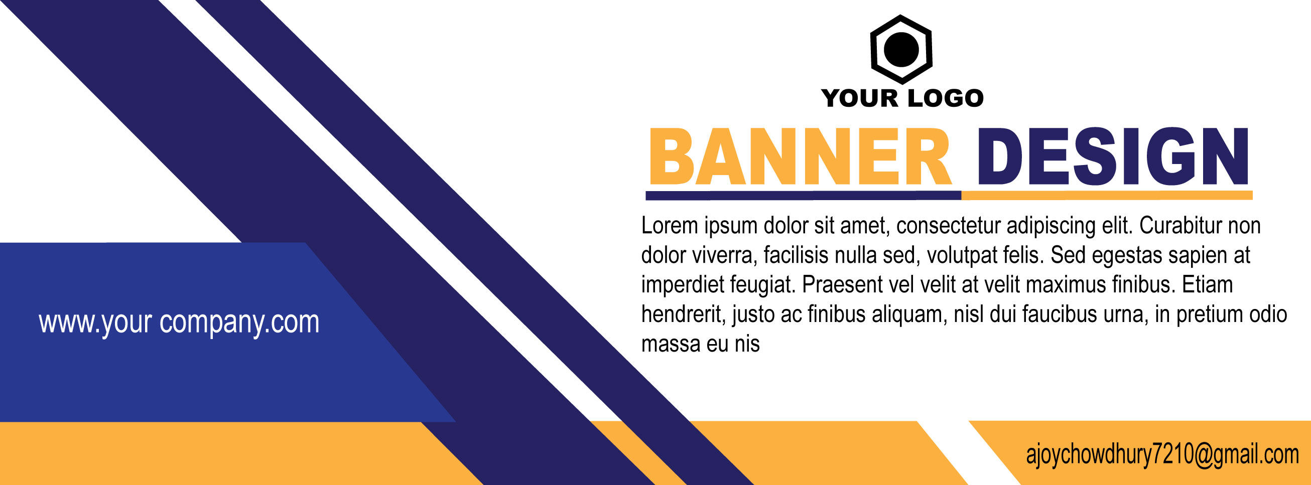 I will Design creative and attractive banner design for you