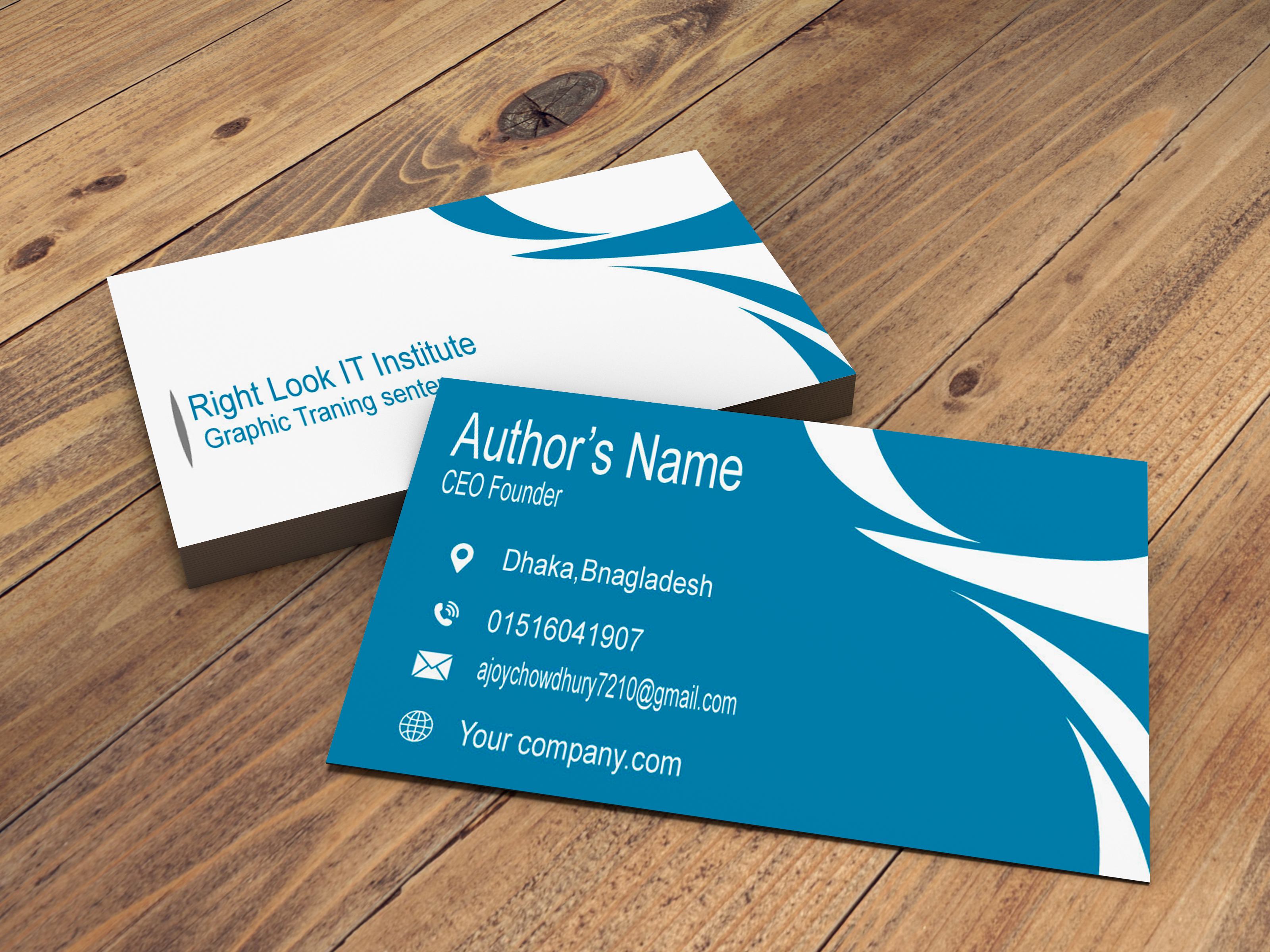 I will design creative and attractive business card for you