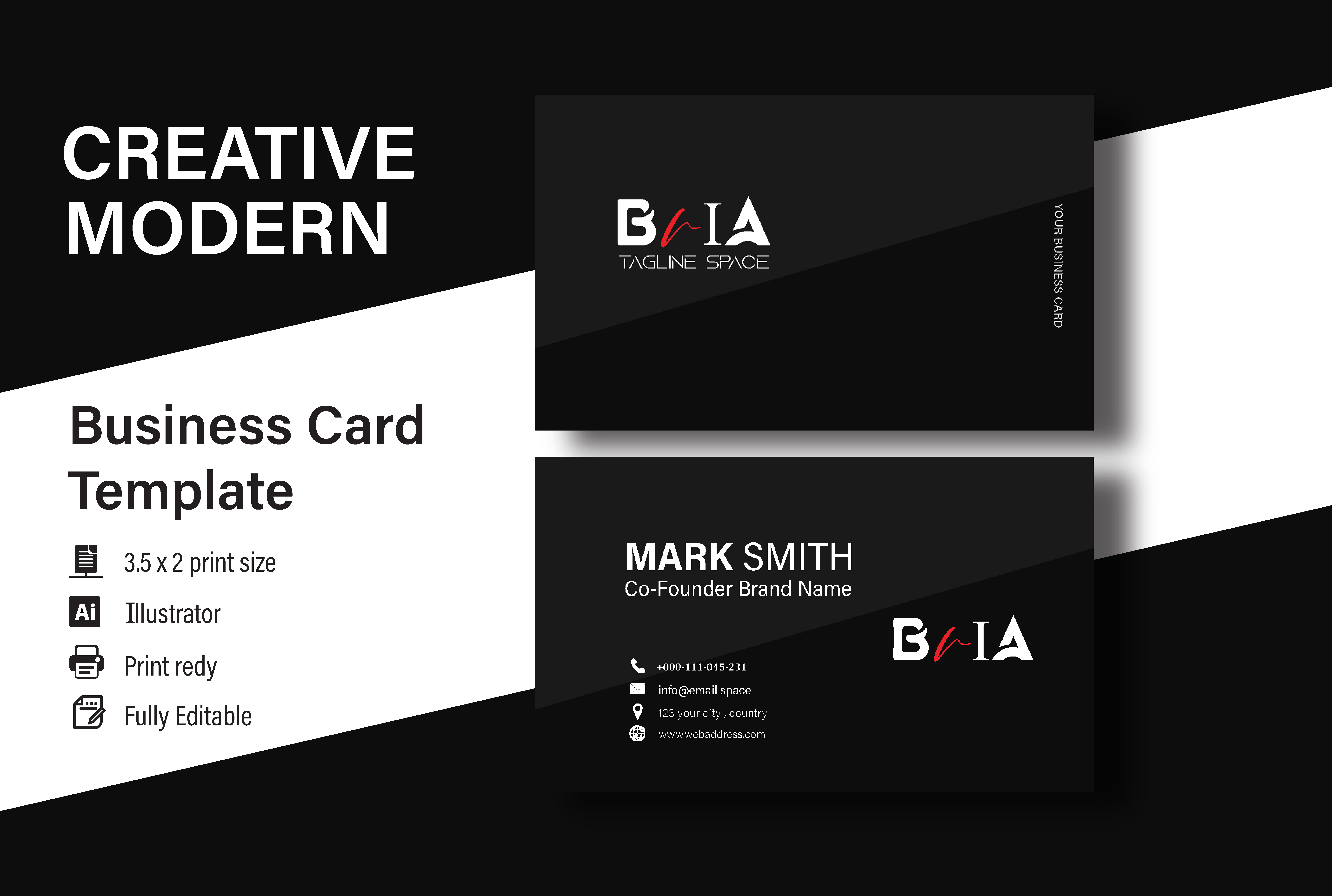 I will design professional eye caching business card