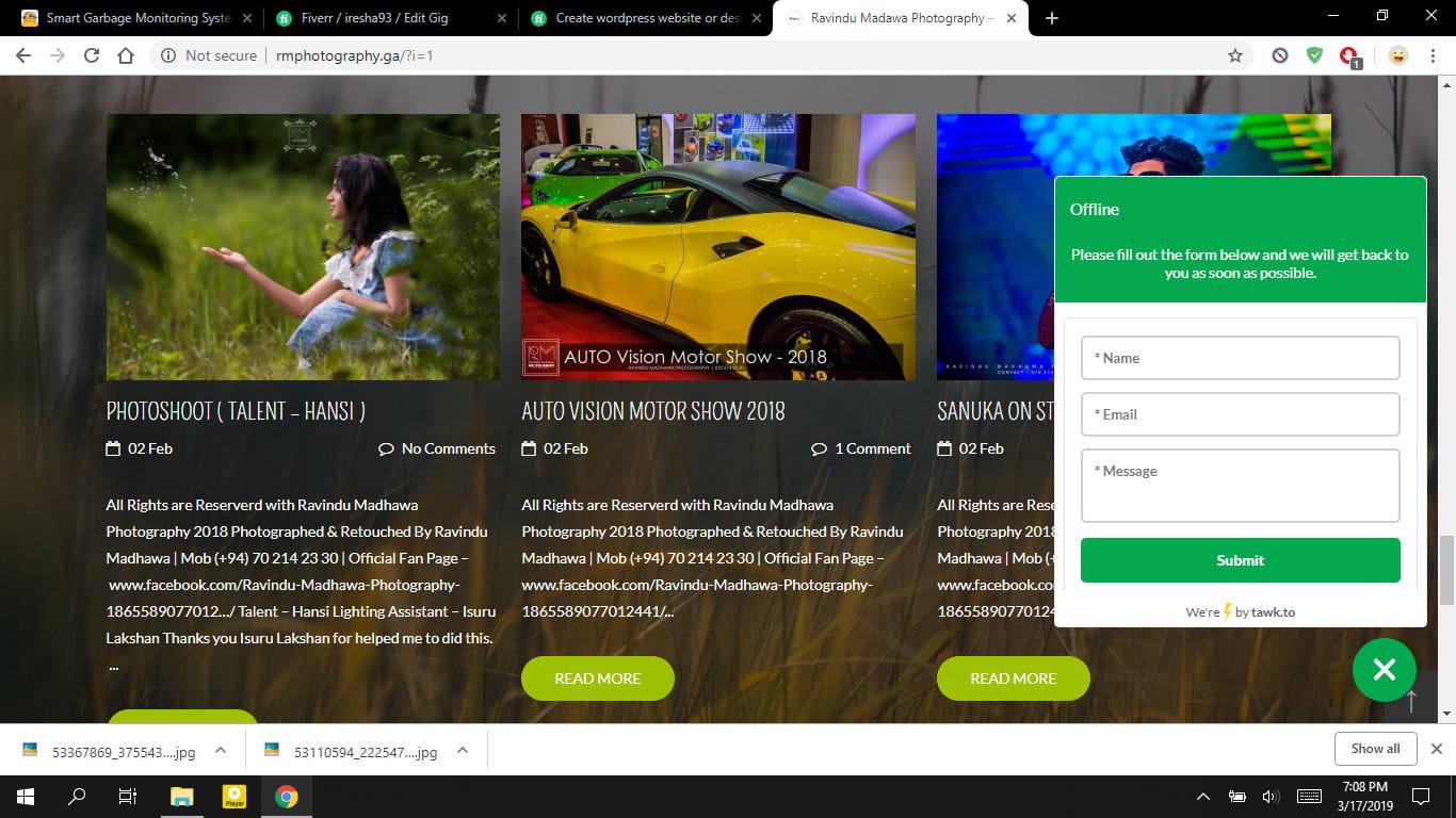 I will create wordpress website or design wordpress website