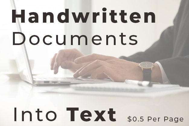 I will transcribe your handwritten documents into text