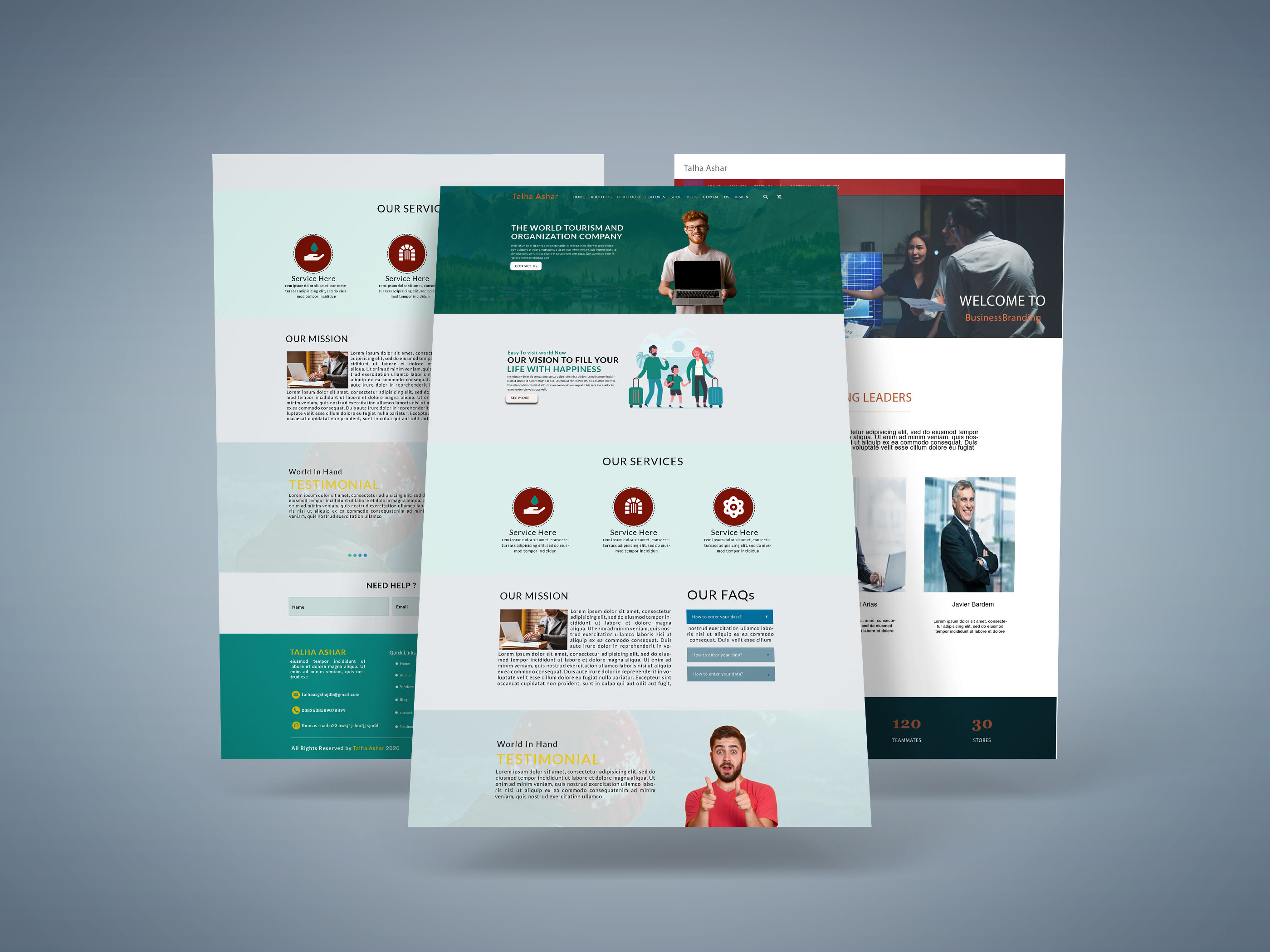 I will design web pages for your business