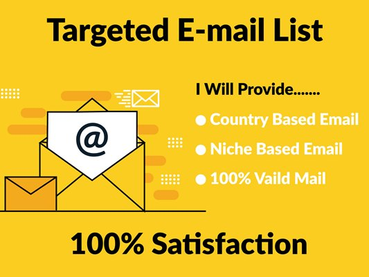 I will provide 1000 niche based valid email list