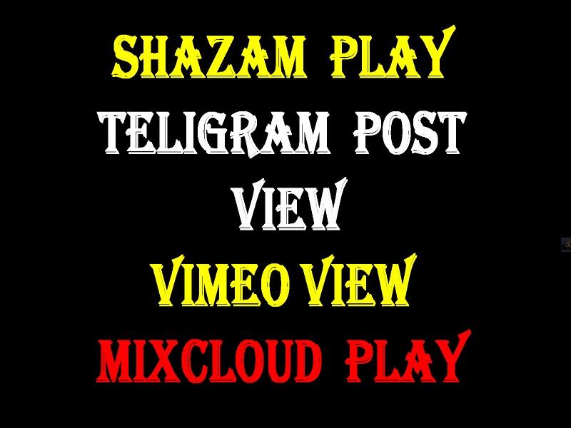 shazam,  teligram,  vimeo,  mixcloud marketing