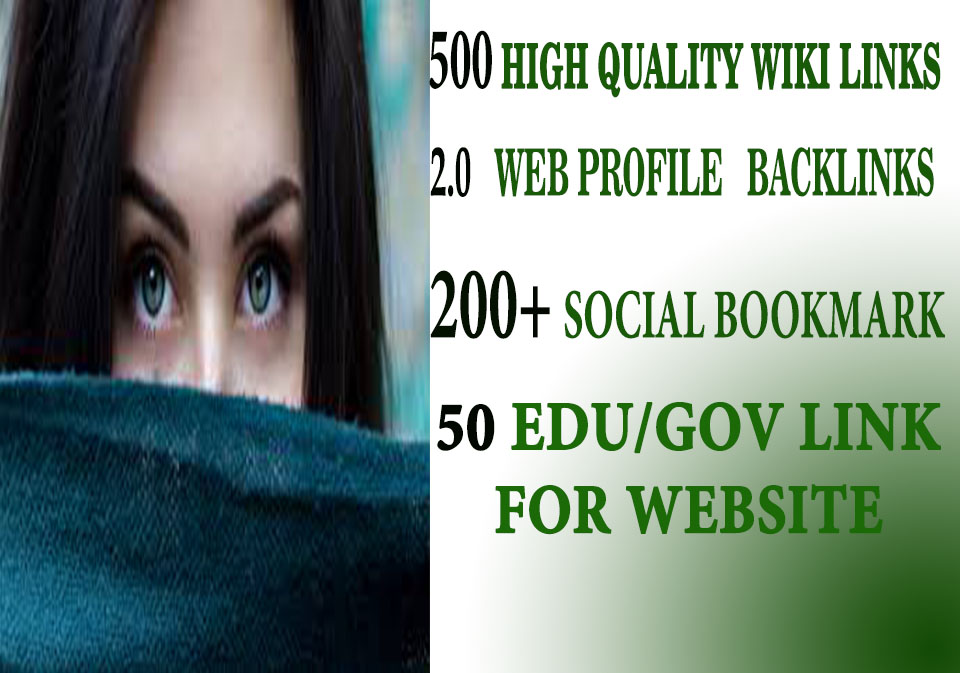 500 HIGH QUALITY WIKI LINKS WITH 2.0 WEB PROFILE BACK LINKS