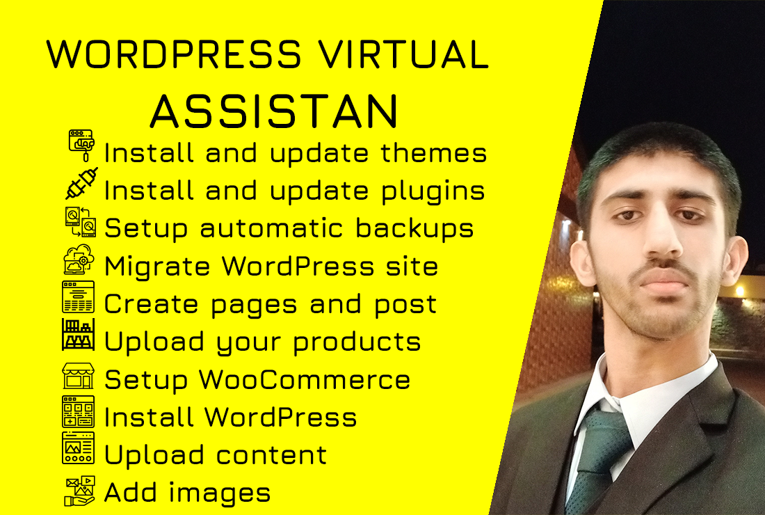 I will be your WordPress virtual assistant