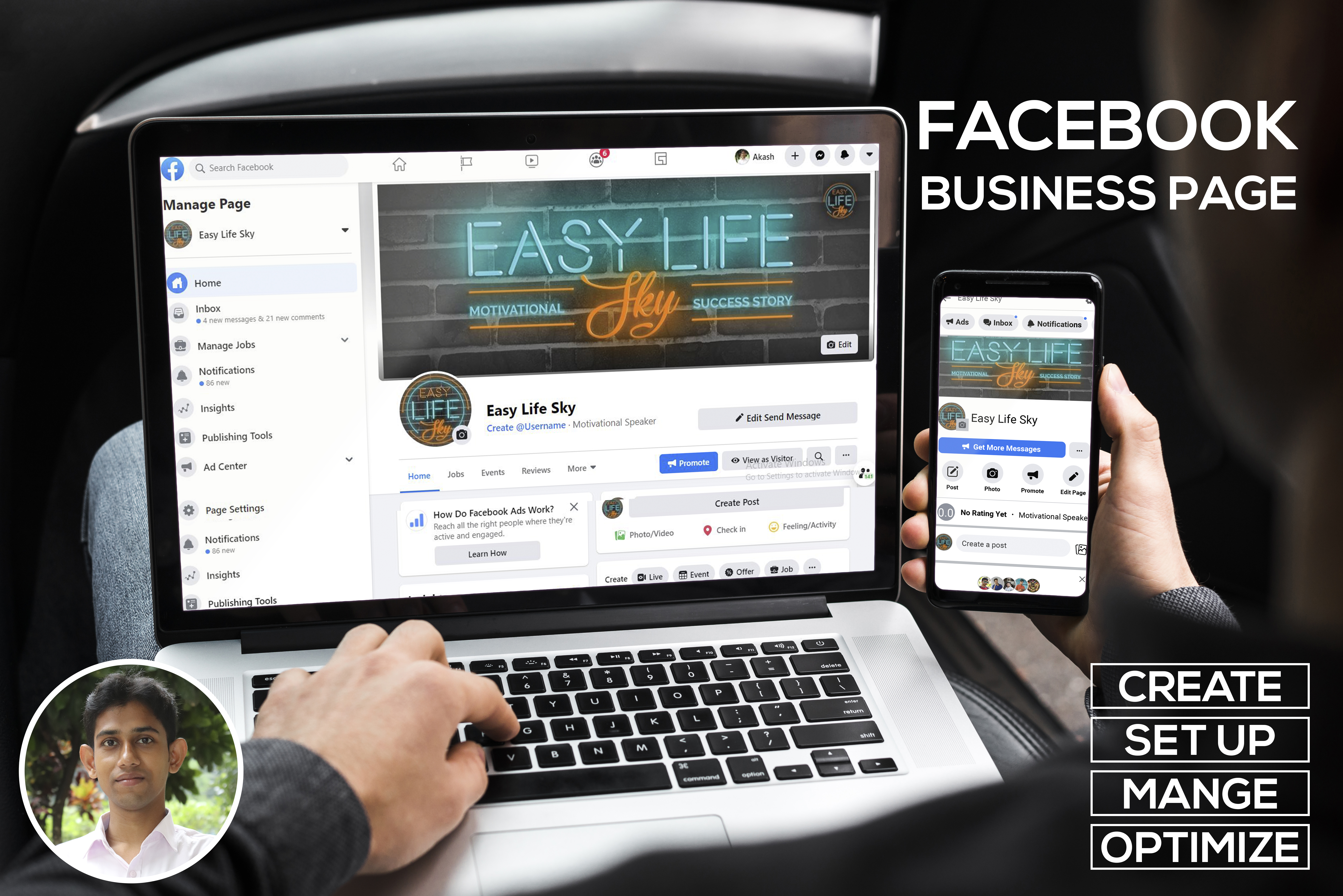 I will create a professional Facebook Business Page 24 hours
