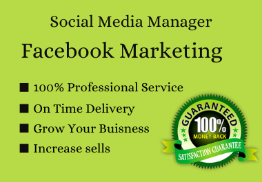I will be your social media marketing manager & content creator