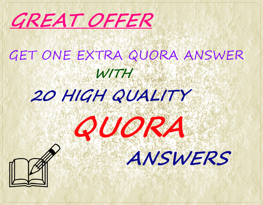 15 HQ Quora Answers with Great Offer