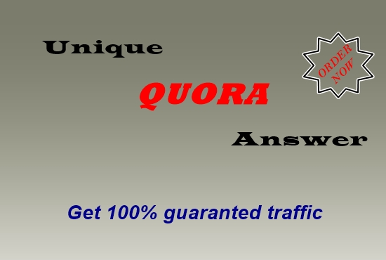 10 Quora answer for guaranteed targeted traffic