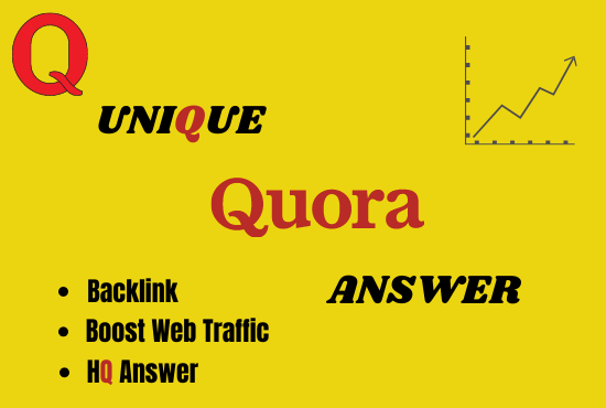 I will provide 50 HQ Quora answer with website promotion.