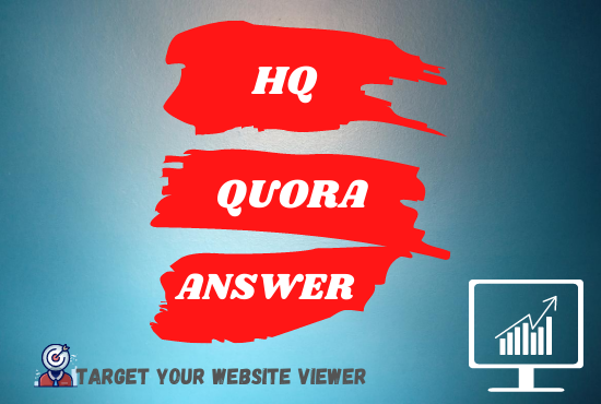 Promote your website 20 high quality Quora Answer with website backlink