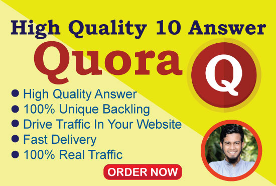 Promote Your website with 10 Quora answer get more Traffic