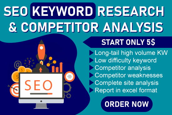 2 SEO Keyword research and competitor analysis for you