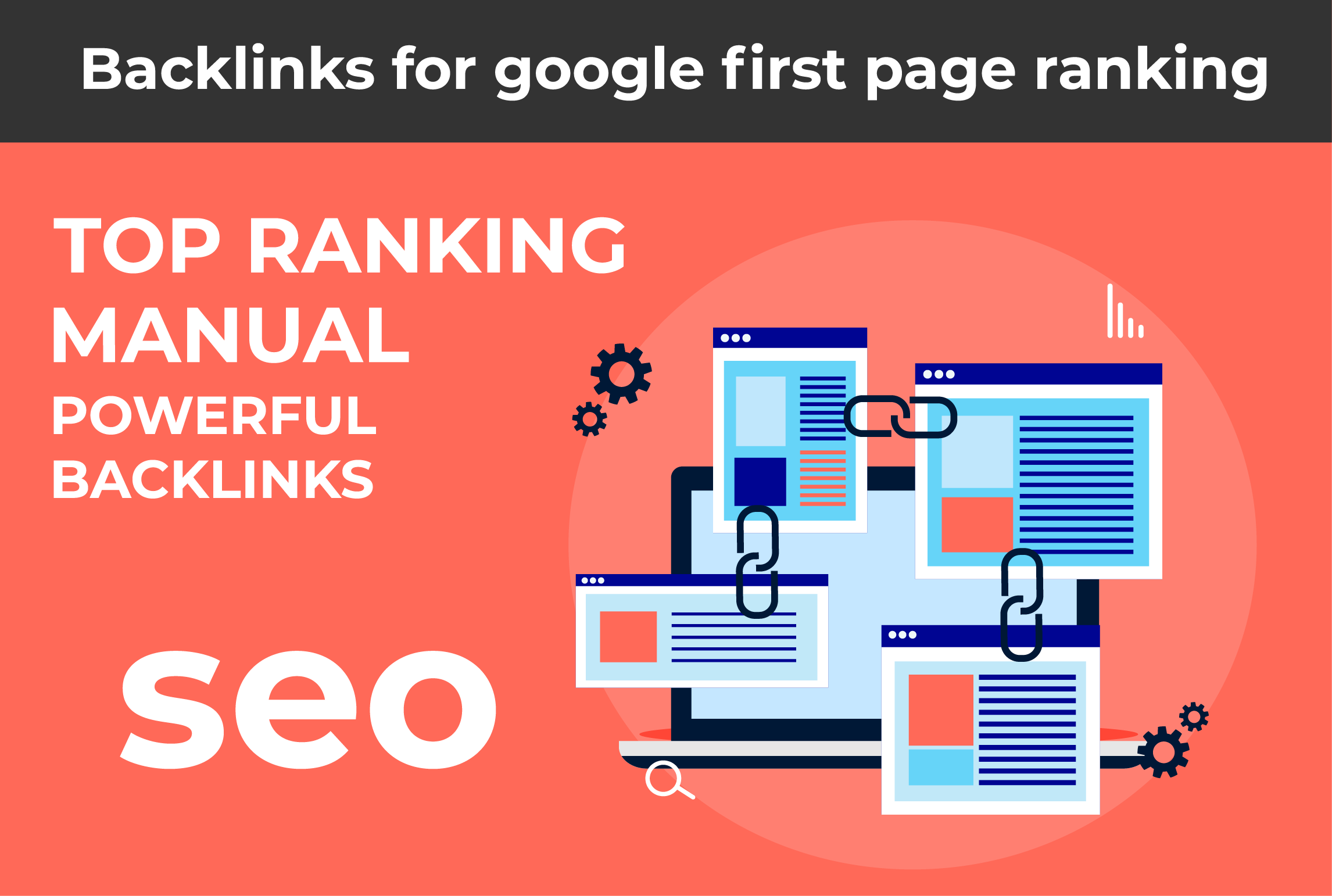 I will build permanent high quality seo backlinks for google first page ranking