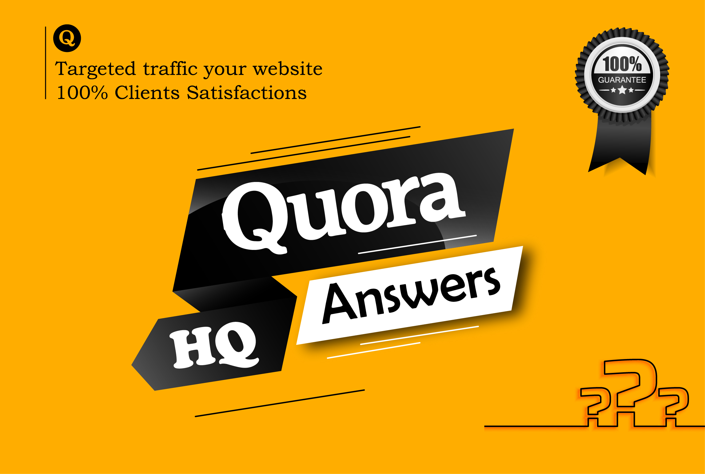Promote your website & keyword 7 HQ quora answers with backlink