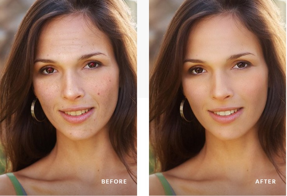 photo retouching in a couple of minutes