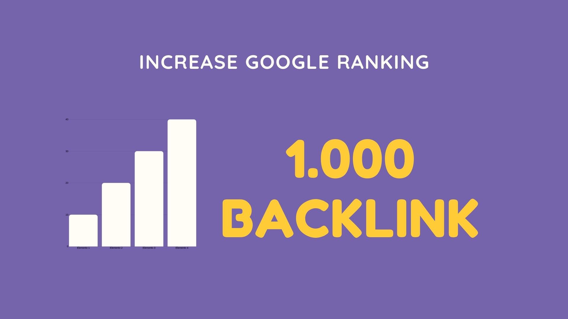I Will provide 1000 high authority dofollow backlinks