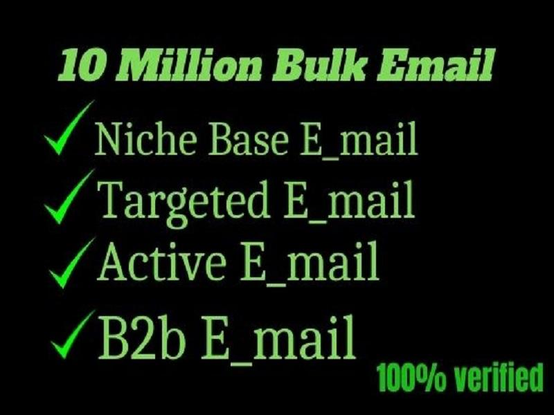 I will provide niche based bulk email list
