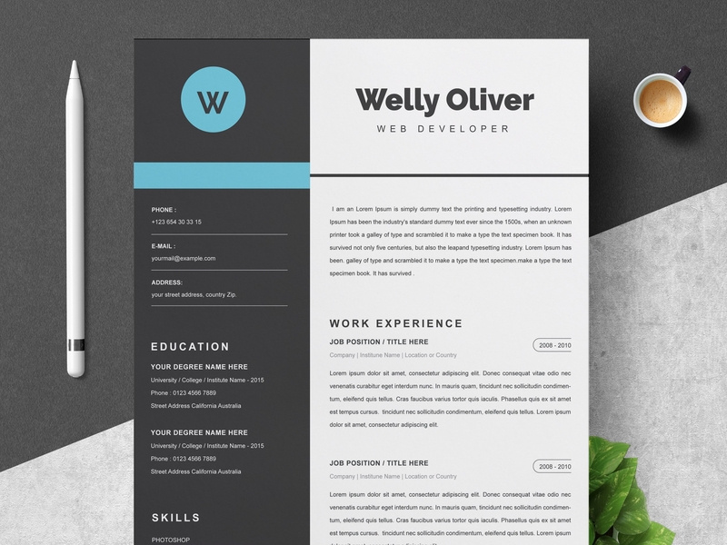 I will design,  edit and write professional resume,  cv,  cover letter