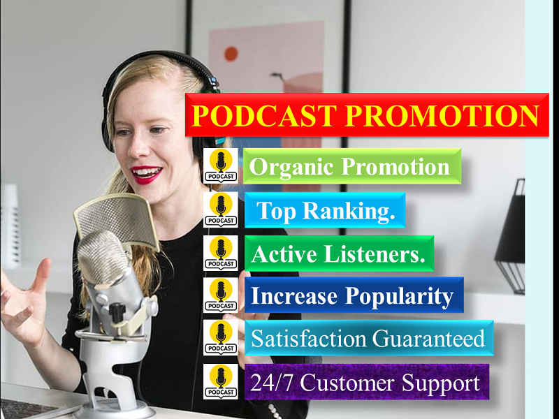 Podcast promotion to increase popularity with huge downloads and ratings