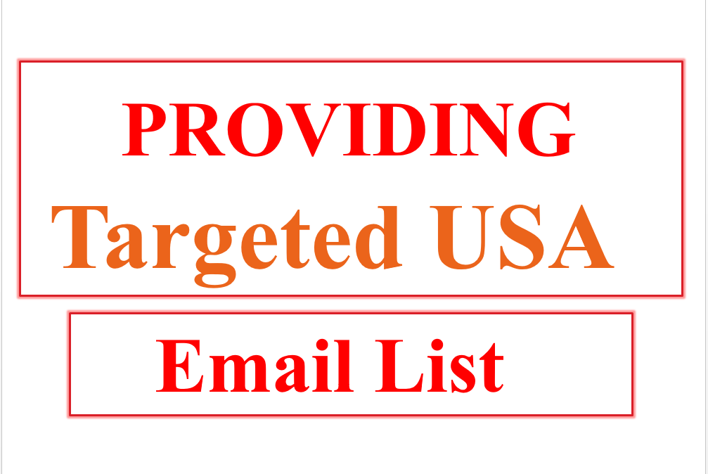 We will provide 1000 targeted bulk email list