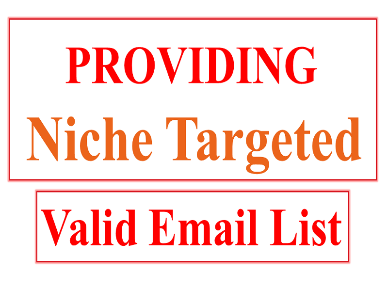 Get your 100 niche targeted valid email list