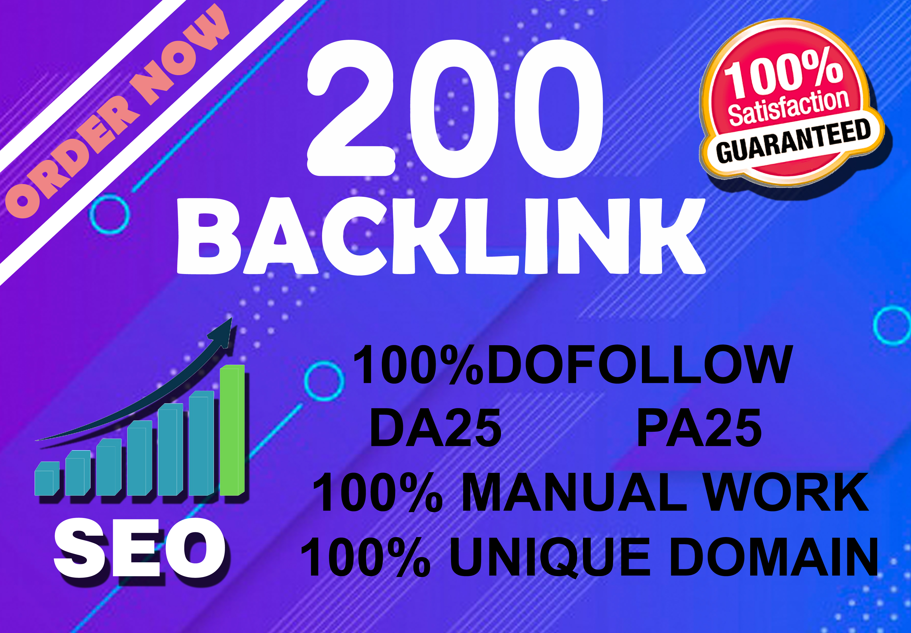 I will submit 200 high authority dofollow backlinks