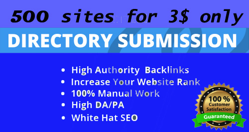 500 Directory submission with in 2 days, Give me your website link. I will manually submit your webs