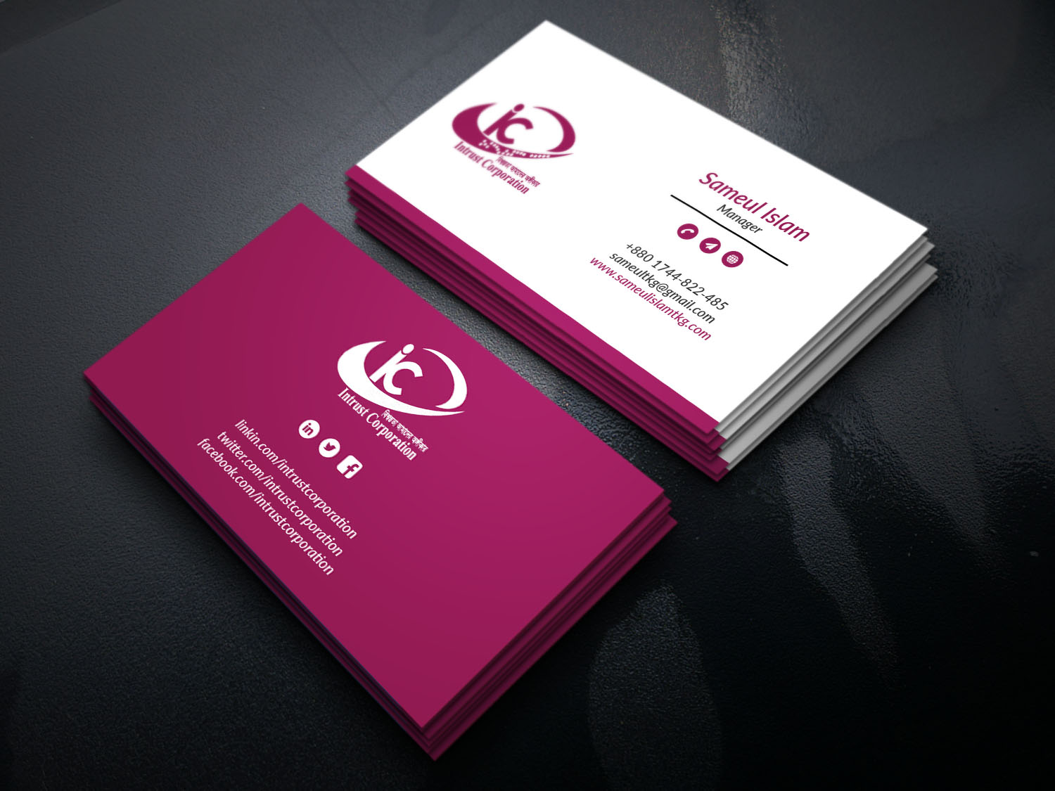 I will do Creative corporate minimalist business card design