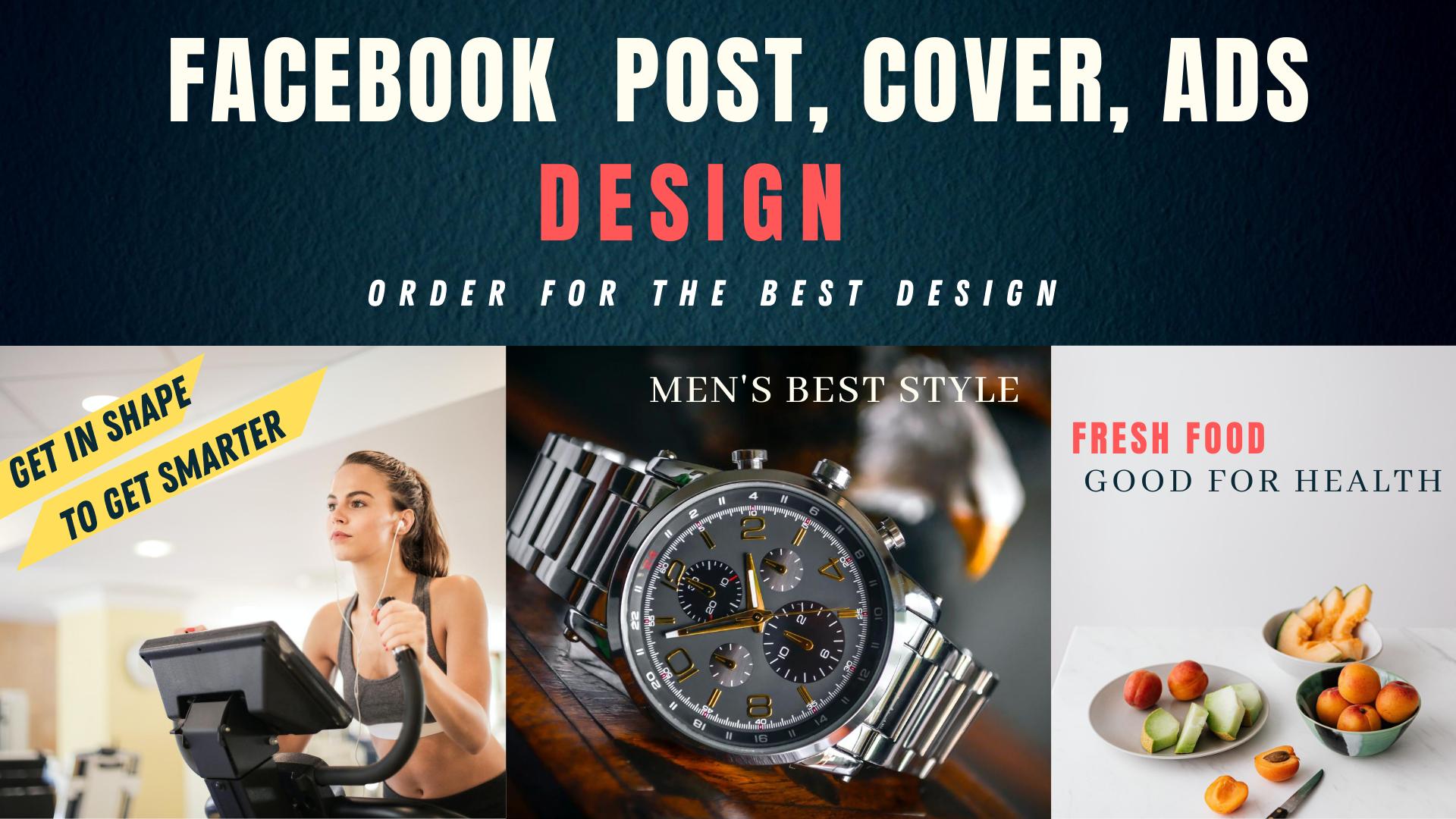 I will design facebook Instagram post cover ads