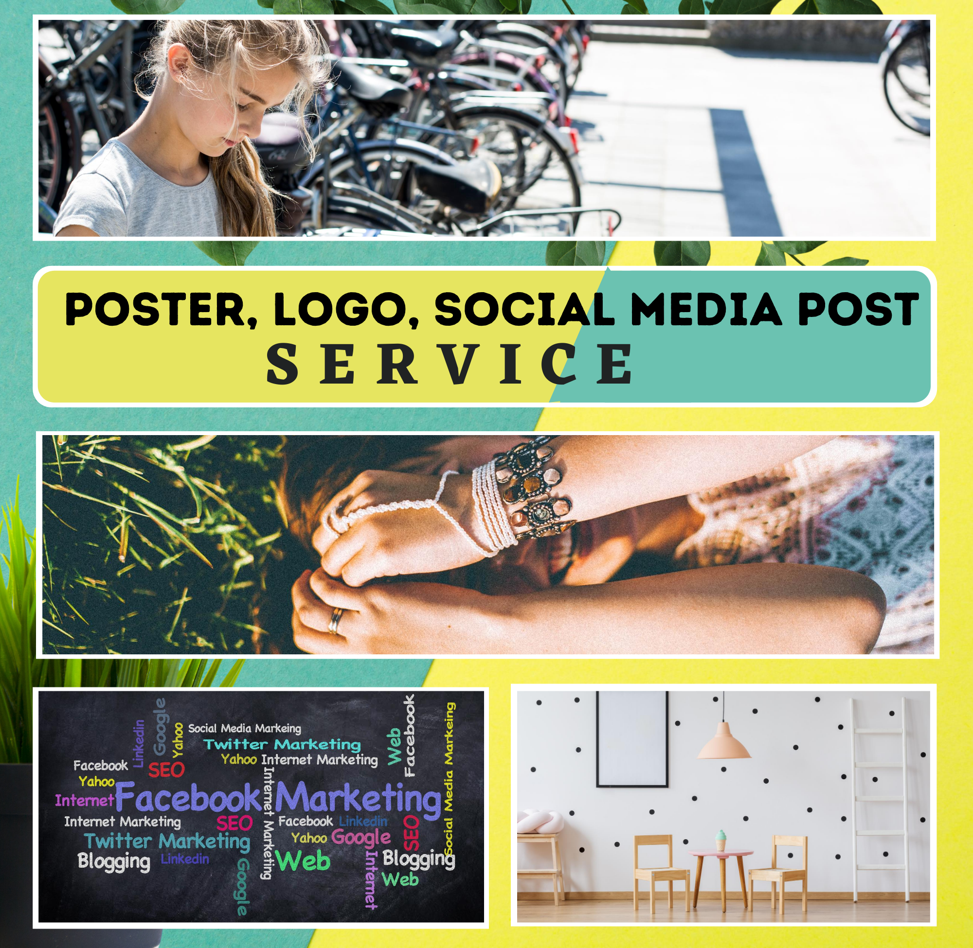 I will create amazing canvas wall art mockups,  social media post, poster,  logo,  and designs.