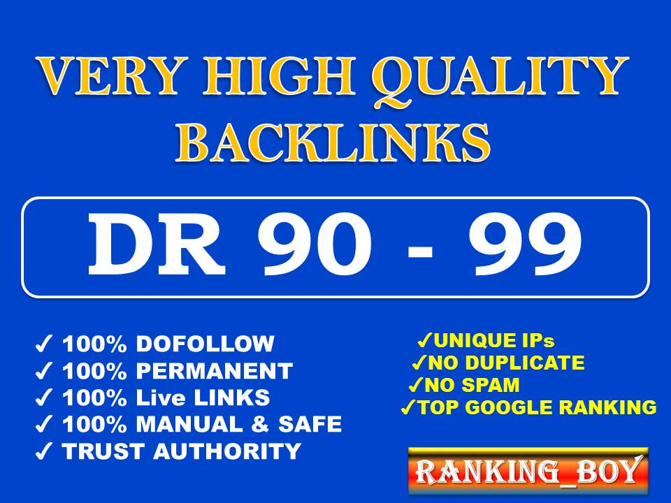 I will make high quality authority SEO dofollow backlinks link building
