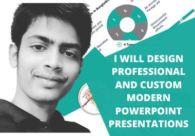 Design Professional and Custom Modern PowerPoint Presentations
