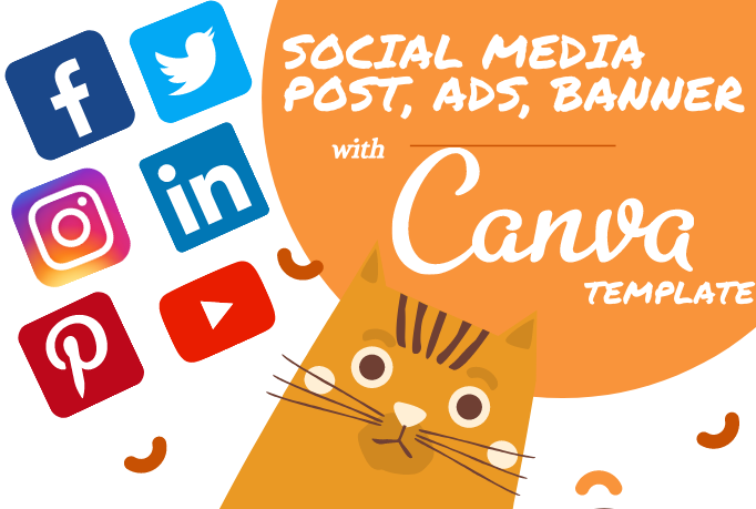 Design Social Media Post,  Cover,  Story,  Ads,  Banner,  Thumbnail,  Template using canva