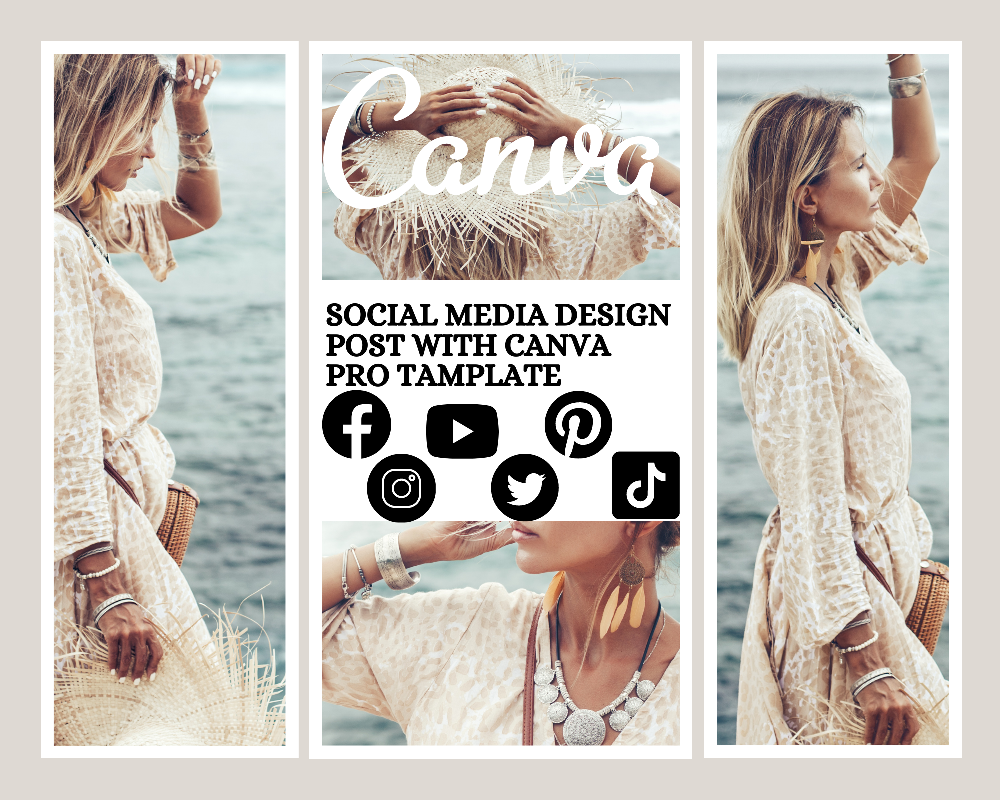 design social media post with canva pro template