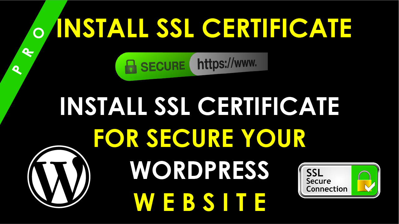 Install SSL certificate https on your wordpress website