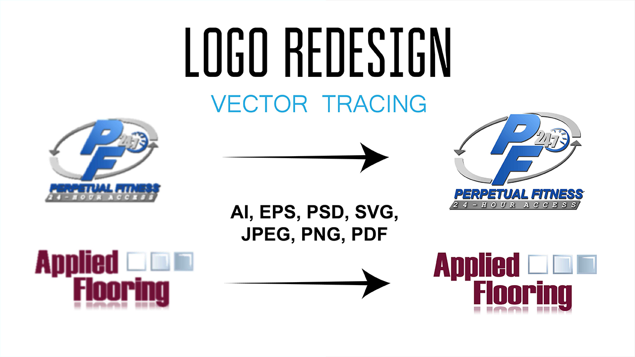I will recreate, remake, redraw or redesign your logo in vector format