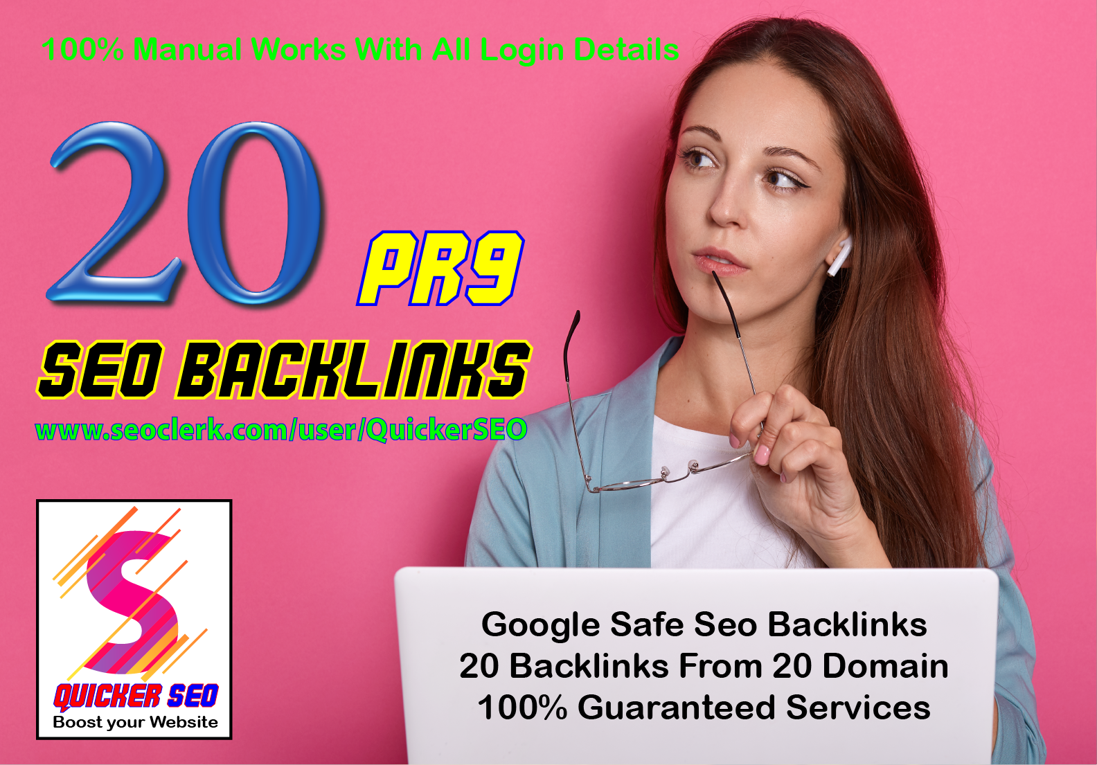 20 Pr9 - 90+ DA High Quality SEO Domain Authority Permanent Backlinks - Boost Your Google Ranking