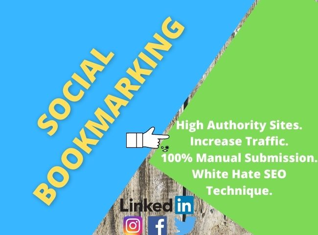 Provide manually 40 social bookmarking your website