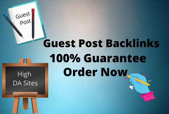 Write and publish 4 niche relevant guest post on high authority sites